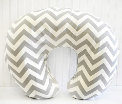 Gray Chevron Nursing Pillow Cover | Zig Zag Bedding Collection