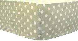 Green Polka Dot Crib Sheet
