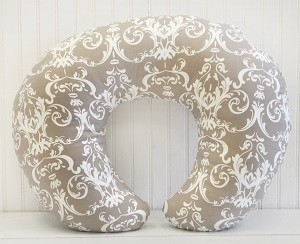 Damask Nursing Pillow Cover| Halle Damask Crib Collection