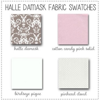 Halle Damask Bedding Collection Fabric Swatches Only