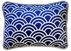 Navy Throw Pillow | Hampton Bay Crib Collection