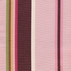 Hampton Stripe in Pink Chocolate Fabric