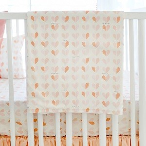 Peach Heart Baby Blanket | Once Upon a Time Crib Collection