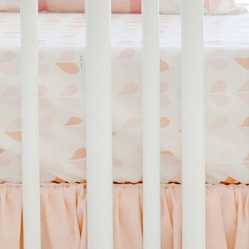 Peach Heart Crib Sheet | Once Upon a Time Crib Collection