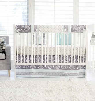 Nursery Rail Guard Set | Harper in Aqua Collection
