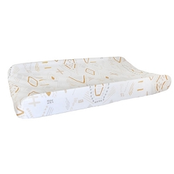 Gold & Gray Tribal Changing Pad Cover | Head West Crib Collection