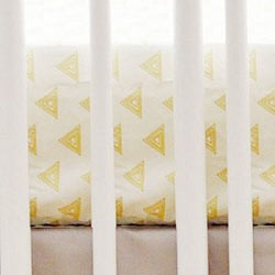 Gold Triangle Crib Sheet | Head West Crib Collection