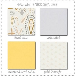 Head West Bedding Collection Fabric Swatches Only