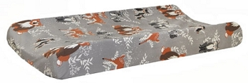 Woodland Changing Pad Cover | Oh Hello Fog Crib Collection