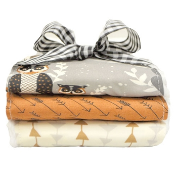 Woodland Burp Cloths | Oh Hello Fog Crib Collection