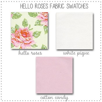 Hello Roses Bedding Collection Fabric Swatches Only