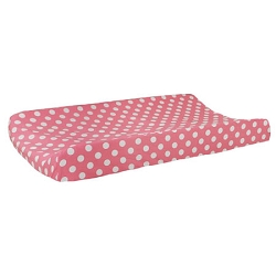 Sugarland Dot Changing Pad Cover | Zig Zag Baby in Hot Pink Crib Collection