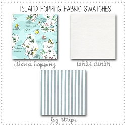 Island Hopping Crib Collection Fabric Swatches Only