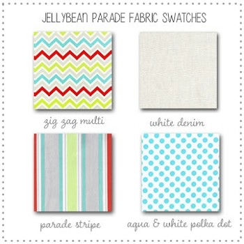 Jellybean Parade Bedding Collection Fabric Swatches Only