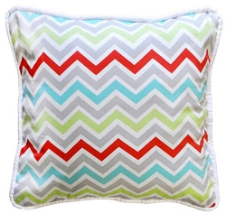 Chevron Throw Pillow | Jellybean Parade Crib Collection