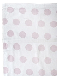 Jumbo Dot in Rose Curtain Panels