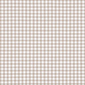 Khaki Gingham Crib Sheet