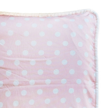 Custom Pink Polka King Pillow Sham with Cording