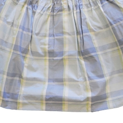 Lake Plaid Ruffled Crib Skirt