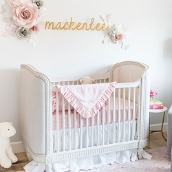 Pink Baby Girl Bedding | MacKenlee Faire Crib Collection