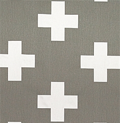Premier Prints  Large Swiss  Cross Storm Twill | Large Swiss Cross in Slate