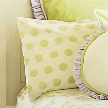 Jumbo Green Dot Standard Pillow Sham