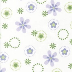 Lavender Bouquet Flannel Fabric