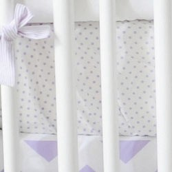 Lavender Polka Dot Crib Sheet | Zig Zag Baby in Lavender Collection