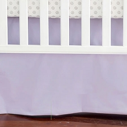 Solid Lavender Crib Skirt