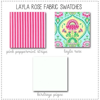 Layla Rose Bedding Collection Fabric Swatches Only