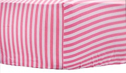 Pink Stripe Crib Sheet | Layla Rose Collection