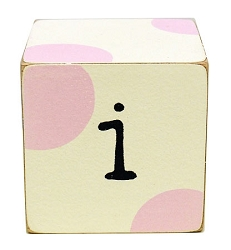 Wooden Block Letters in Pink