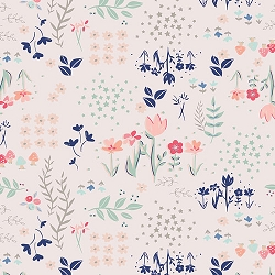 Navy & Peach Floral | Art Gallery Library Gardens