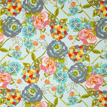 Art Gallery Garden Rocket Turquoise Fabric | Lilly Belle Collection