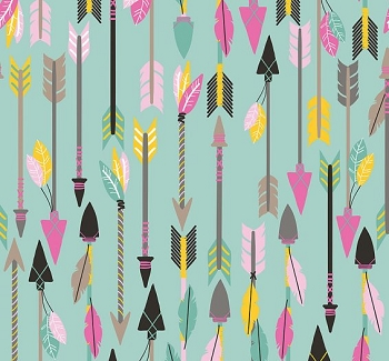 Blend Luckie Quills Arrow in Turquoise