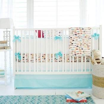 Feather & Arrow Crib Bedding | Lucky Arrow Collection