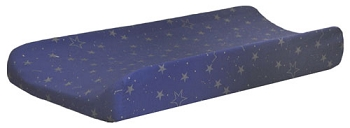 Navy Changing Pad Cover | Lucky Stars in Navy Crib Collection