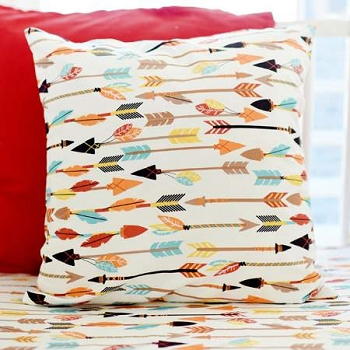 Arrow and Feather Pillow | Lucky Arrow Collection