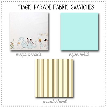 Magic Parade Crib Bedding Collection Fabric Swatches Only