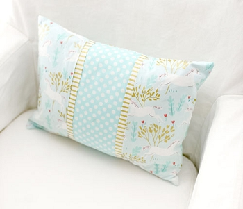 Mint and Gold Pillow | Mint Unicorn Crib Collection