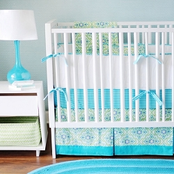 Aqua & Green Baby Bedding | Monterey Bay Crib Collection