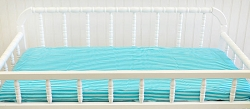 Aqua Stripe Changing Pad Cover  |  Monterey Bay Crib Collection