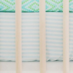 Aqua Stripe Crib Sheet | Moondance Collection