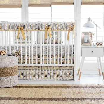 Aztec Crib Rail Cover | Navajo in Gold Crib Collection