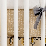 Neutral Crib Sheet | Navajo in Gold Crib Collection