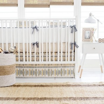 Aztec Baby Bedding | Navajo in Gold Crib Collection
