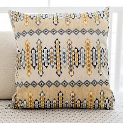 Aztec Throw Pillow  |  Navajo in Gold Crib Collection
