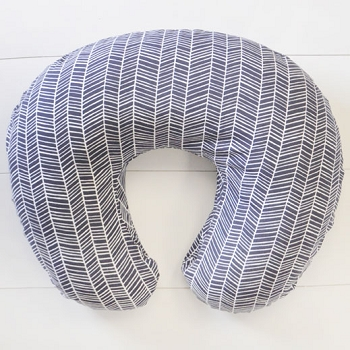Navy Herringbone Nursing Pillow Slipcover | Go Your Own Way Collection