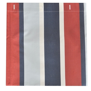 Navy & Red Stripe Shower Curtain