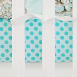 Aqua Polka Dot Crib Sheet | Ocean Avenue Collection